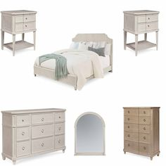 Bedroom Sets Georgia art furniture - arch salvage mist bryce 3 piece eastern king