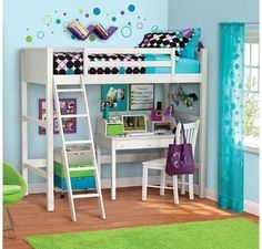 NEW White Twin Wood Wooden Loft Style Bunk Bed Multiple Colors Kids Your Zone