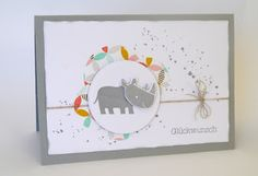 Schnecke's Kreativ-Laden: Süße Glückwunschkarte