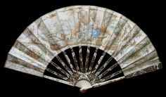 18th Century French or Dutch Courting Fan - Date: ca. 1785 - MadAboutFans.com