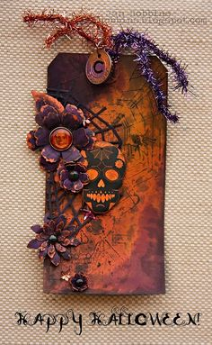 In My Own Imagination: HAPPY HALLOWEEN! Altered tag by janhobbins