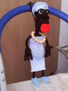 негритянка от Меджик - Мои игрушки - Галерея - Форум почитателей амигуруми (вязаной игрушки)