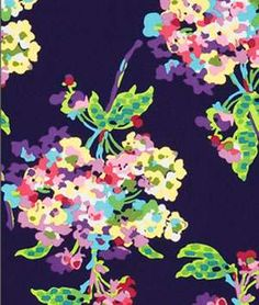Amy Butler Water Bouquet Midnight Fabric @Gennie Pettipas WE NEED THIS