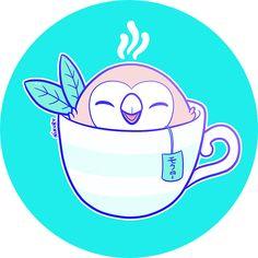 Pokemon Sun & Moon Rowlet tea by Nikury - nikury.com