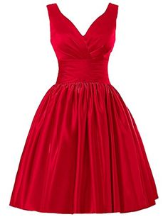 JAEDEN Short Bridesmaid Dresses Satin Prom Dress V Neck Ruched Gown Red US2 JAEDEN http://www.amazon.com/dp/B01AHOIW6C/ref=cm_sw_r_pi_dp_IkNSwb0XAC2TK