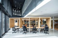 SOHO co-working space by AIM Architecture, Beijing – China Coworking Space, Commercial Interior Design, Commercial Interiors, Soho, Interior Tropical, Monopole, Peking, Shared Office, Office Hub