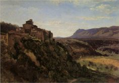 Artista: Camille Corot Fecha de finalización: 1826 Estilo: Realismo Genero: paisaje Técnica: óleo Material: canvas Galeria: Private Collection Etiquetas: houses-and-buildings, valleys-and-hollows