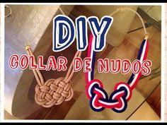 Como Hacer Collares de Moda con Nudos Mostacillas Collares Bisuteria Collares Largos Pintura Facil - YouTube