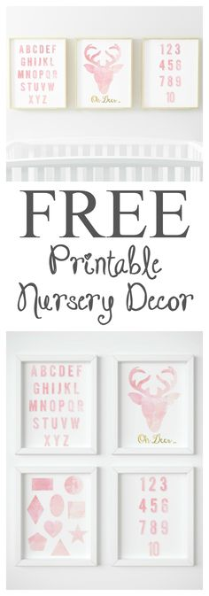 Nursery decor can get expensive. Save money by downloading these free watercolour nursery decor printable's to beautifully complement your baby's nursery!