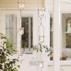 Hanging Glass Tealight Holders from The White Company