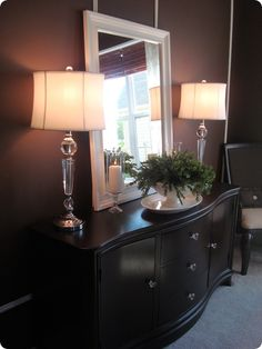 Regal brown color & placement of mirror~