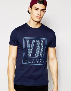 """T-shirt by Voi Cotton jersey Crew neck Branded print design Regular fit - true to size Machine wash 100% Cotton Our model wears a size Medium and is 189cm/6'2.5"""" tall"""