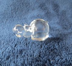 Miniature Blown Glass Hippo Figurine by PansyBelleAttic on Etsy