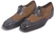 Men Brown Black Wingtip Handmade Genuine Leather Shoes Brown Brogues, Brown Leather Shoes, Suede Leather, Black Shoes, Semi Formal Shoes, Leather Accessories, Oxford Shoes, Dress Shoes, Handmade