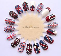 10 Blank Canvases: Union Jack inspired nail art