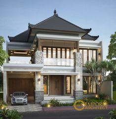 Modern Exterior House Designs, Exterior Wall Design, Modern House Design, 3d House Plans, Model House Plan, Home Building Design, Building A House, Style Bali, House Main Door Design