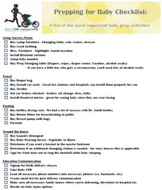 Free Printable: New Baby Checklist | THINGS TO MAKE MEMORIES OTHER ...