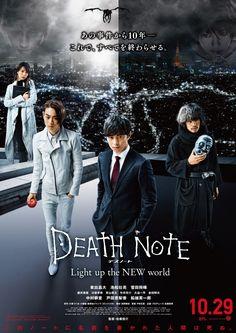 Nuevo póster promocional de la película Death Note: Light Up the New World.