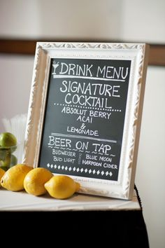 Definitely have a drink menu at the bar Wedding Pins, Wedding Images, Wedding Events, Wedding Details, Our Wedding, Wedding Ideas, Weddings, Tequila, Vodka