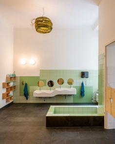 Kitabau hochwertige Möbel Kindergarten-Bad Spülbecken Dusche