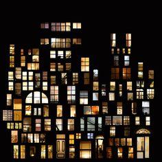 Digital Window Collage by Anne-Laure Maison via Alyssa Anda, mymodernmet #Windows #Collage #Anne_Laure_Maison