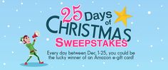 Be a Winner in the 25 Days of Christmas Sweepstakes!