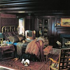 Ralph Lauren Home Archives, Unknown Collection, Bedroom Detail, Fall, 1990  | Ralph Lauren Home Archives | Pinterest | Ralph Lauren, Fall And Home