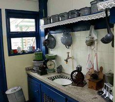 De keuken van een boerderij.