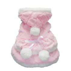 Petparty Pink Princess Dog Cape for Dog Coat Dog Dress Soft Cozy Dog Clothes Pet Coat Free Shipping,M - http://www.thepuppy.org/petparty-pink-princess-dog-cape-for-dog-coat-dog-dress-soft-cozy-dog-clothes-pet-coat-free-shippingm/