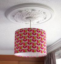 Lampshade Kit 30cm Diameter Round for Hanging or Table Lamp
