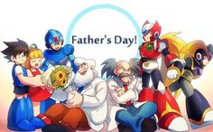 Happy Father's Day to Dr. Mega Man, Anime Couples Manga, Cute Anime Couples, Anime Girls, Akira, Proto Man, Zero Wallpaper, Megaman Series, Gamers Anime