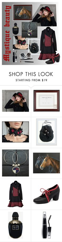 """""""Mystique beauty"""" by filcalki ❤ liked on Polyvore featuring Gallery Solutions, McQ by Alexander McQueen, Django & Juliette, Alexander McQueen and Lancôme"""