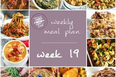 Weekly Meal Plan – Week 19