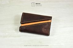 MICO leather business card holder 2 Way open