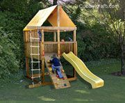 Cubbyhouse kits : Diy Handyman Cubby house : Elevated Cubbies : Panda Pack Kids Gym