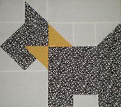 Scottie dog quilt - wip block