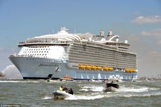 Harmony of the Seas, the world's largest cruise ship, left its shipyard in Saint-Nazaire, ...