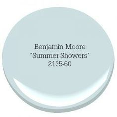 Benjamin Moore Summer Shower Coastal Farmhouse Paint Color A coastal-inspired color palette can turn your home into a relaxing escape. Our top picks for choosing the best coastal blue paint colors for your home. Bedroom Paint Colors, Interior Paint Colors, Paint Colors For Home, Wall Colors, Paint Colours, Interior Design, Room Colors, Beachy Paint Colors, Interior Ideas