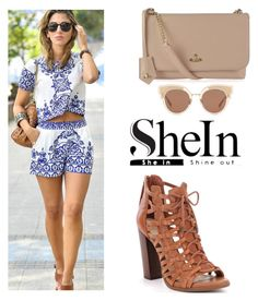 """""""SHEIN"""" by tania-alves ❤ liked on Polyvore featuring Vivienne Westwood and Bottega Veneta"""