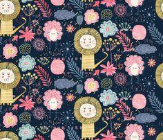 © Virginie Ozanon | Wild and sweet garden fabric by demigoutte on Spoonflower - custom fabric