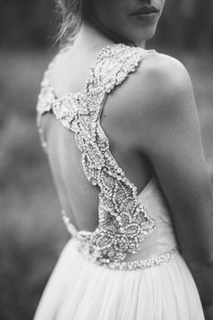 """Hayley Paige """"Houston"""" available at a&bé bridal shop minneapolis #mnbride #hayleypaige #beading"""