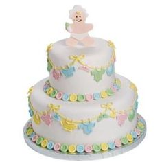 Layette On 'Em! baby shower cake.