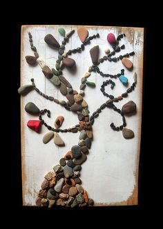 what better way to create a piece...with the earth (rocks). I want to do something like this with real river rock...its in the works so keep a look out for something new up my sleeve to sell.