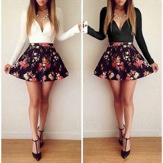 Blanco negro vestidos estampados de flores mujer con cuello en v manga larga de cintura alta una línea princesa vestido de moda para mujer ropa estilo Vintage