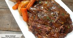 "Joyously Domestic: Slow Cooker ""Melt in Your Mouth"" Pot Roast (no packets or canned soup) sweet Jesus this was good! This is the slow cooker pot roast recipe I have been waiting for - so tender and so much flavor! Crock Pot Slow Cooker, Crock Pot Cooking, Slow Cooker Recipes, Cooking Recipes, Healthy Recipes, Easy Recipes, Healthy Fit, Delicious Recipes, Healthy Eating"