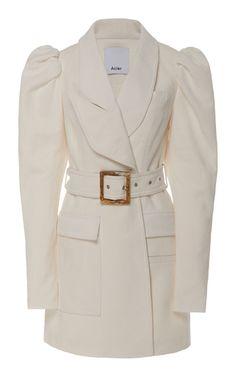 Alameda Puffed-Shoulder Belted Blazer Dress by Acler Blazer Dress, Coat Dress, Satin Bomber Jacket, Fashion Outfits, Fashion Trends, Fashion Coat, Vintage Outfits, Vintage Clothing, Fashion Design