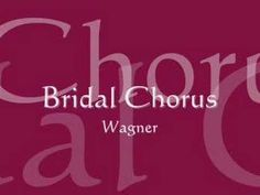 """Wagner's Bridal Chorus (Pipe Organ Solo) .... also known as """"Here comes the bride""""   :)))"""