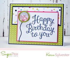 designs by kerin sylvester Fun Challenges, Gift Certificates, Clear Stamps, Card Making, Happy Birthday, Paper Crafts, Crafty, Homemade Cards, Card Ideas