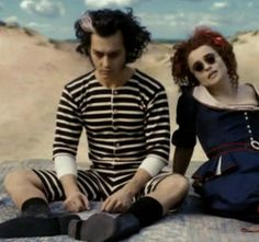 johnny depp / sweeney todd / victorian era one-piece bathing suit