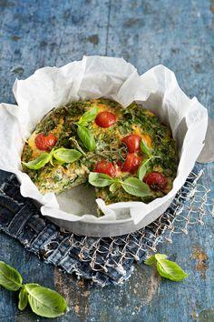 Vihreä uunimunakas | Reseptit | Anna.fi Camembert Cheese, Dairy, Anna, Eat, Food, Meals, Yemek, Eten